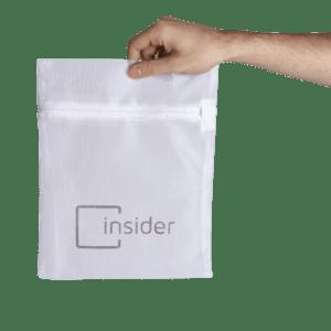 Saquinho para lavar insider bag protege suas roupas na lavagem, aumentando a vida útil delas