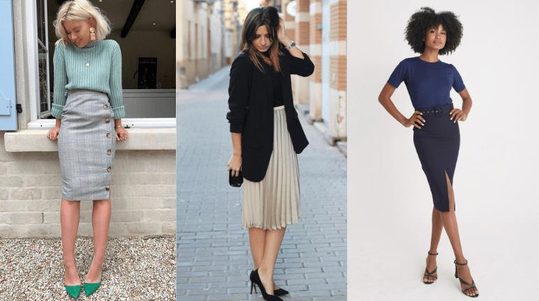 Look social feminino com saia